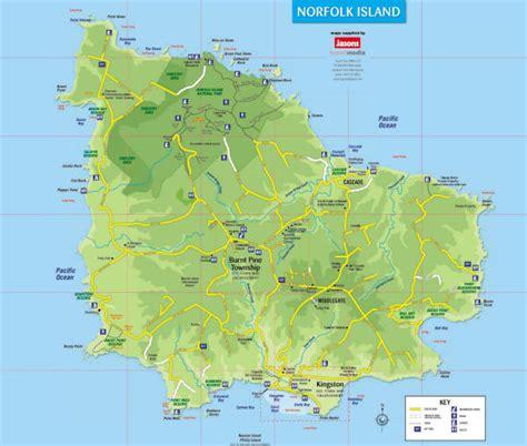 norfolk island map norfolk island country maps