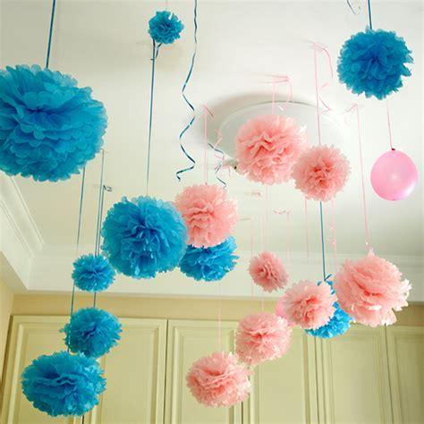"""10pc 8'', 10"""", 14'' Tissue Paper Pom Poms Flower Balls"""
