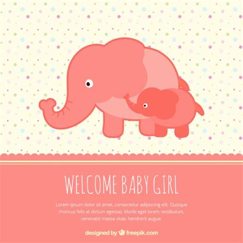 welcome baby card vector free download