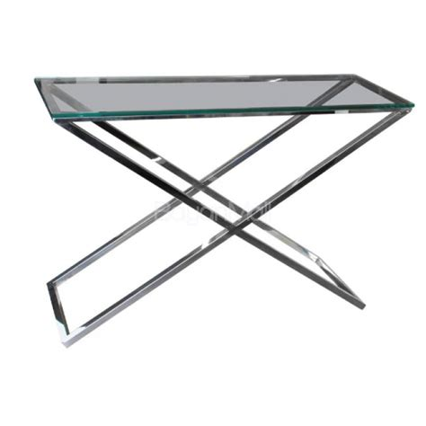 clear glass console table gg 1006 clear glass console table