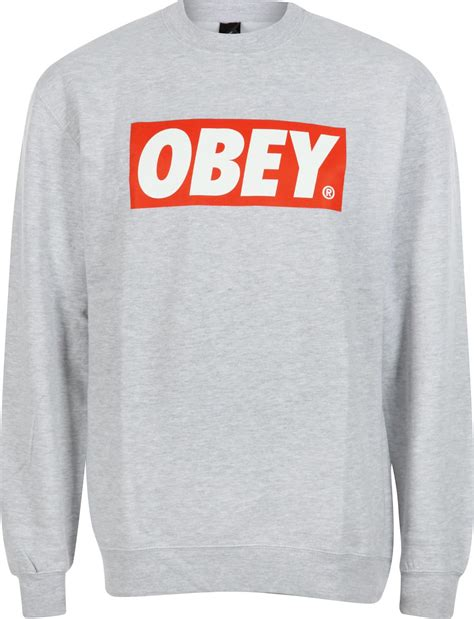 Sweater Obey Obey The Box Sweater Grey
