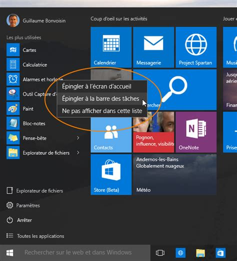 raccourci bureau windows windows 10 cr 233 er un raccourci vers une application sur