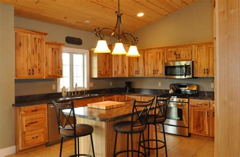 country style rustic hickory farmhouse kitchen chicago  someones   kitchen