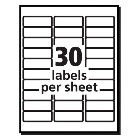Avery R Easy Peel R Address Labels For Inkjet Printers 8160 1 Regarding Avery Template 30 Avery 30 Label Template