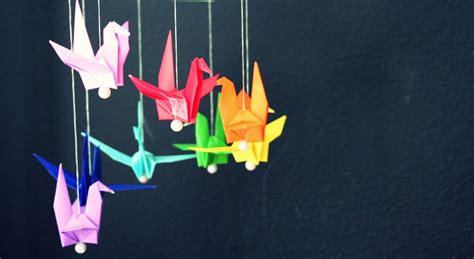 Origami Mobiles - how to origami crane mobile madpimp