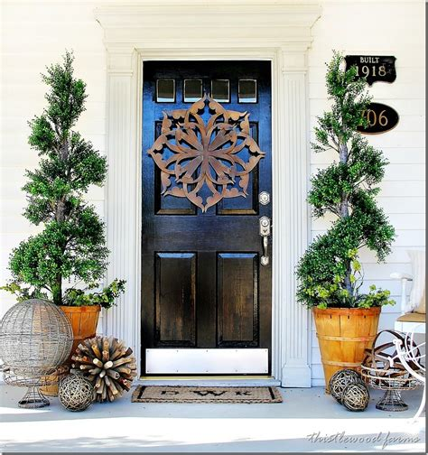 Decorating Your Front Door For - trash to treasure almost door decorating
