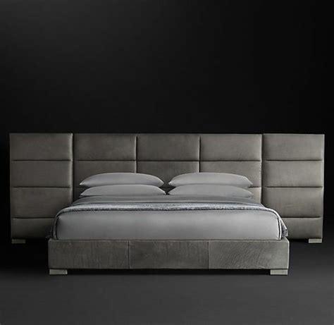 tete de lit gris argent choisissez un lit en cuir pour bien meubler la chambre 224