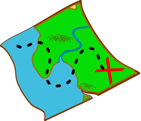 clipart of map treasure map ocal diff colours clip at clker