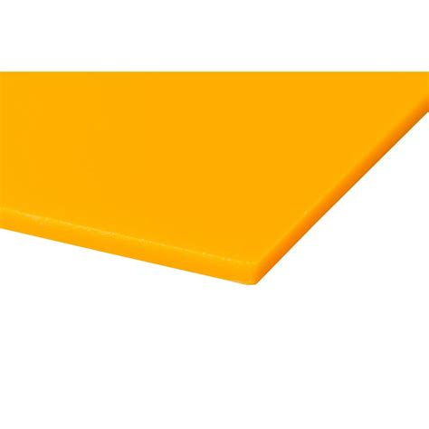 plexiglas 24 in x 48 in x 0 118 in yellow acrylic sheet