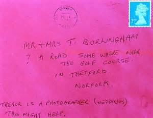 cards addressed and mailed how royal mail s detective skills delivered letter with a
