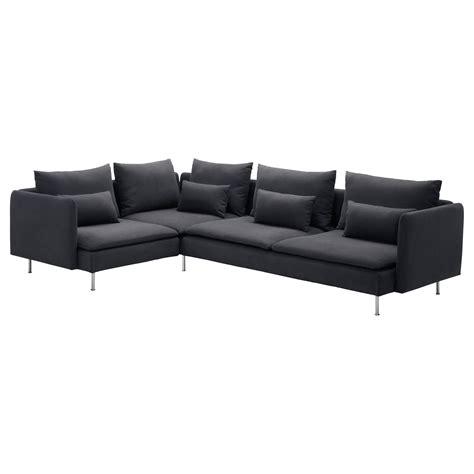 Ikea Corner Sofa Leather S 214 Derhamn Corner Sofa 2 1 Samsta Grey 291x198 Cm Ikea
