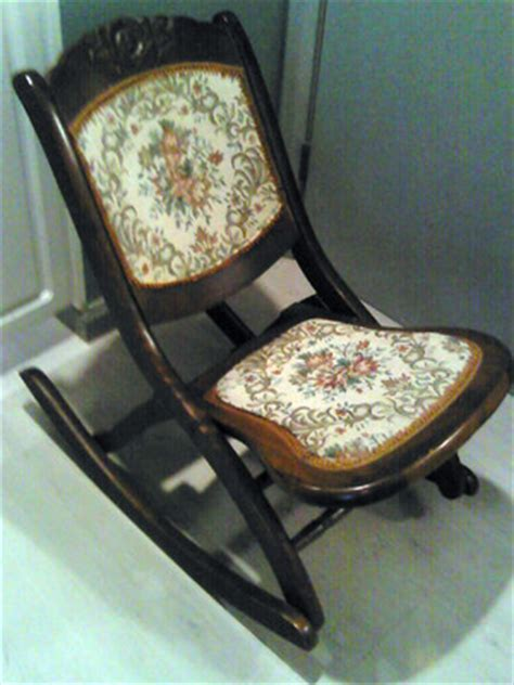 vintage folding sewing rocker rocking chair
