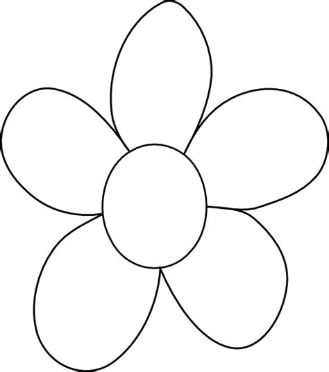 flower colouring template big flower template clipart best