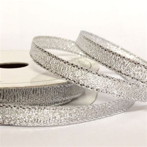 Ribbon Silver 6mm sparkly silver ribbon wedding
