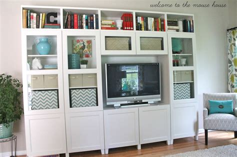 ikea besta wall unit ideas the new family room reveal