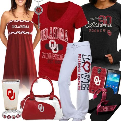 oklahoma sooners fan gear women s oklahoma sooners fan gear style collages pinterest