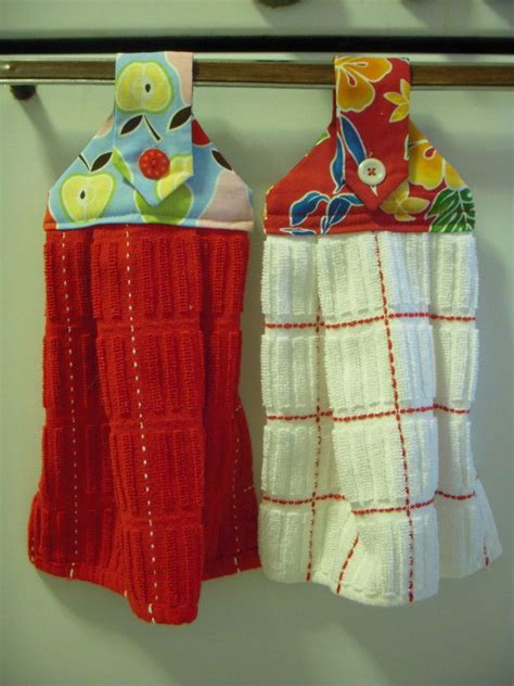 diy hanging dish towels for the home