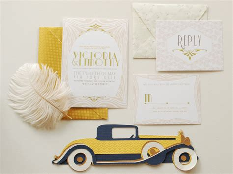 Wedding Invitations Great Gatsby by Ultimate Great Gatsby Wedding Invitation Suite Onewed