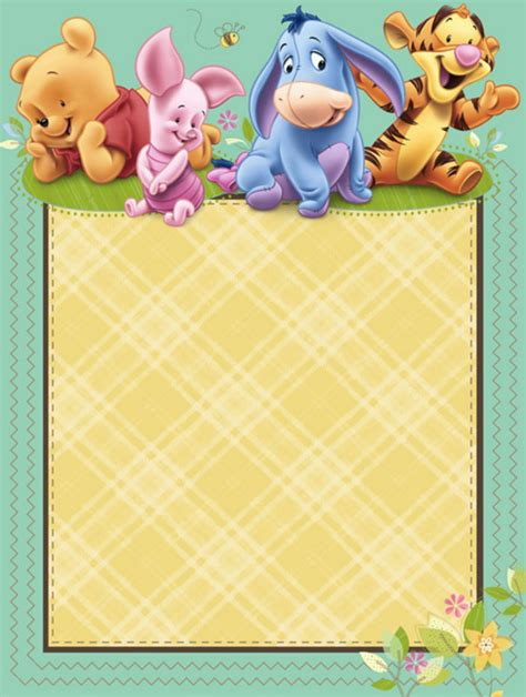 Classic Winnie The Pooh Baby Shower Invitations Printable by Winnie The Pooh Baby Shower Thank You Notes Home