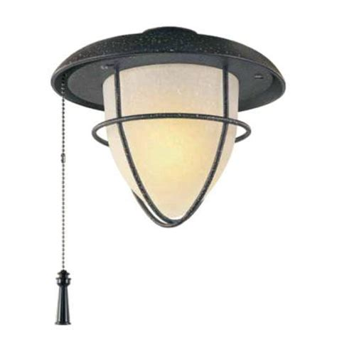 hton bay palm 1 light gilded iron ceiling fan