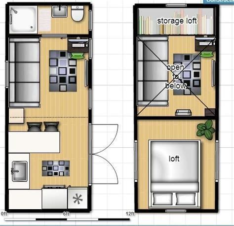 small house plans with lots of storage 8x20 isbu tiny house render floorplan shipping