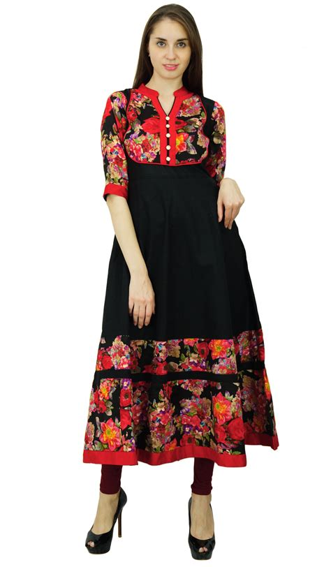 kurti pattern anarkali phagun floral pattern kurta women cotton anarkali ethnic