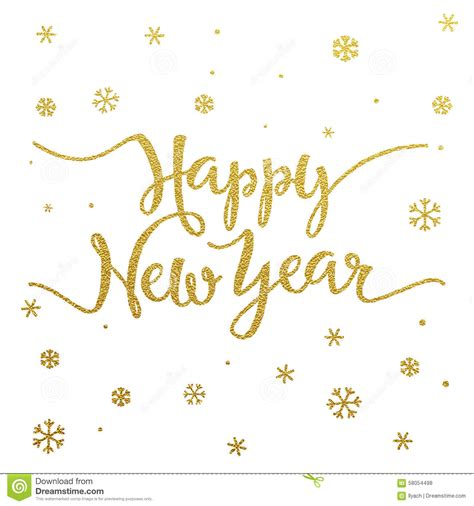 gold lettering design  card happy  year stock vector image