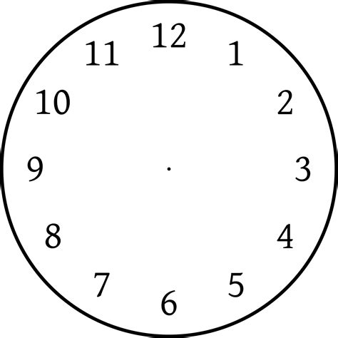printable clock pictures print clock face clipart best