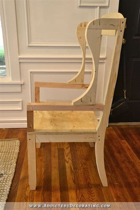 wood frame wingback chair diy wingback dining chair how to build the chair frame