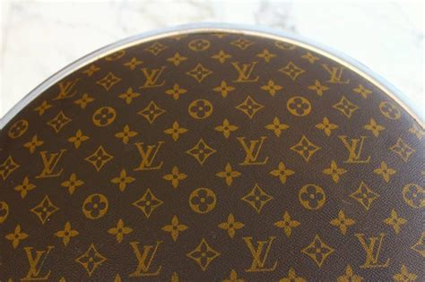 Louis Vuitton Upholstery by Louis Vuitton Upholstered Chrome Stools Pair For Sale At