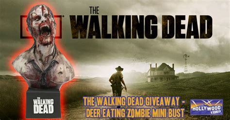 The Walking Dead Giveaway - the walking dead giveaway win a sdcc exclusive deer eating zombie mini bust