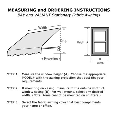 awning installation instructions bay canvas awnings