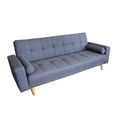 slate grey sofa bed ital design 3 seater slate grey sofa bed