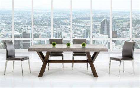 concrete dining room table adonis concrete top dining table industrial dining tables