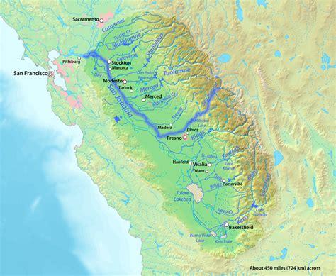 california map san joaquin river rivers for change san joaquin