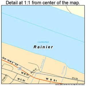 rainier oregon map 4160850