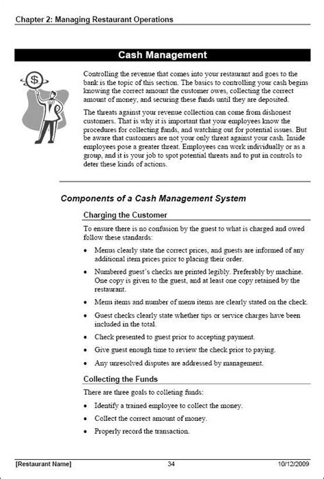 Restaurant Manager Training Manual Template Coaching Guide Template