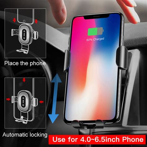 baseus car mount qi wireless charger for iphone xs max x xr 8 fast wireless charging car phone