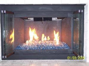 picture sles of completed glass fireplace on