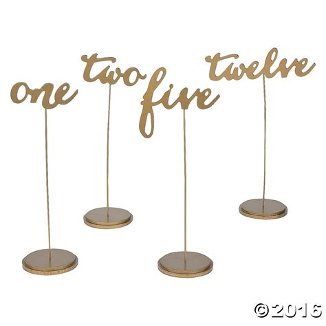 Gold Calligraphy Table Numbers 12pk Supplies Canada