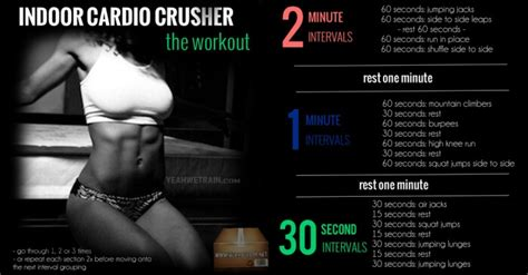 indoor cardio crusher the workout healthy fitness