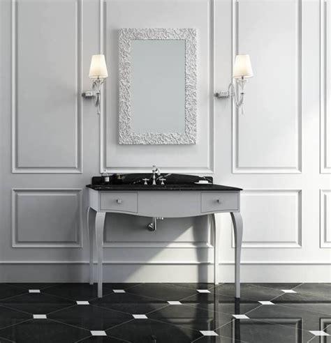 mobili in marmo mobile da bagno in stile classico bianco opaco con piano