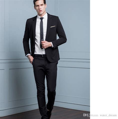 2019 Best Selling Black Color Men Wedding Suits Custom