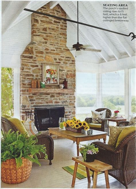 enclosed porch with brick fireplace fireplaces