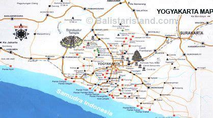yogyakarta map java island asian destinations
