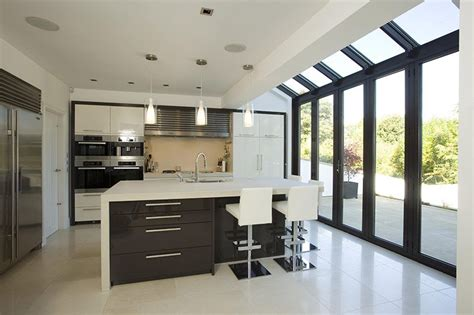 kitchen conservatory designs conservatory extensions modern glass kitchen extensions