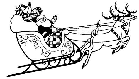 coloring pictures of santa s sleigh printable christmas coloring page santa in sleigh