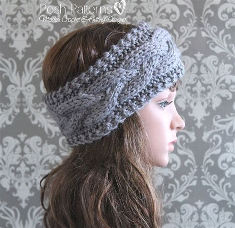 cable knit headband knitting pattern cable knit headband pattern knitting
