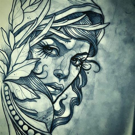 tattoo girl drawing 17 best ideas about neo traditional on pinterest neo