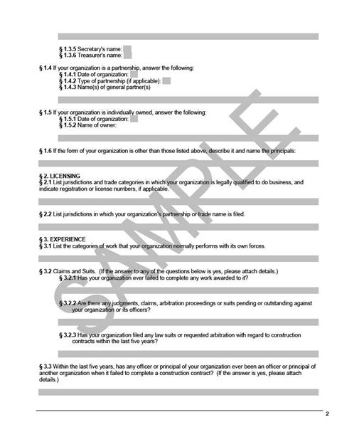 A305 Contractor S Qualification Statement Cms Aia G704 Template